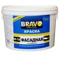 Краска В/Д W-18 фасадная стандарт 14кг  Bravo