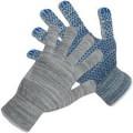 Перчатки х/б ПВХ 10 класс (протектор) 5 нитей серая