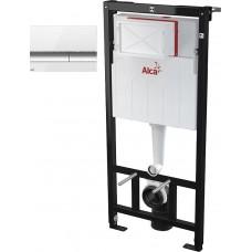 Система инсталяции AlcaPlast SET 3в1 АМ101/1120+М70 Кнопка управления (белая)