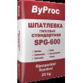Шпаклевка гипсовая стандарт.ByProc SPG-600 25кг