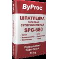 Шпаклевка гипсовая финишная.ByProc SPQ-680 25кг