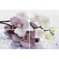 Панно Альба Орхидея лиловый из 4 пл 600*400 AL-P-ORC