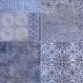 Плитка Фрейя на синем синий 418*418 пг3фр303