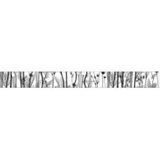 Бордюр Эста на белом черный 500*50 бд56эс002