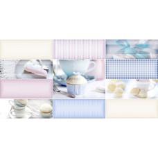 Вставка Дольче белый/голубой 249*500*8,5 вс9дч006