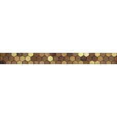 Бордюр Ника коричневый/коричневый 600*60 бд60нк404