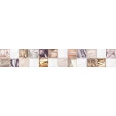 Бордюр Асти белый/коричневый 500*80 BWU58ASI004