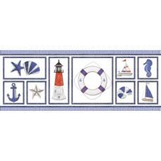 Декор ПОРТО белый/синий 400*150 DWU06PRT003