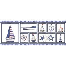 Декор ПОРТО белый/синий 400*150 DWU06PRT023