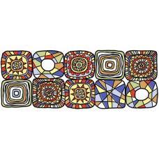 Декор Клер синий/желтый 400*150 BWU06CLR308