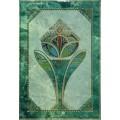 Вставка Малахит зеленая цветок 249*364 вс7мх101цЗ