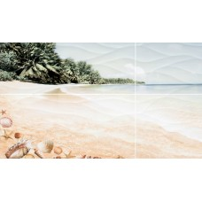 Панно Ривьера пляж 498*1000 ПН96 из 4х пл