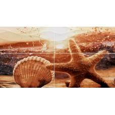 Панно Ривьера морская звезда 498*1000 ПН98 из 4х пл